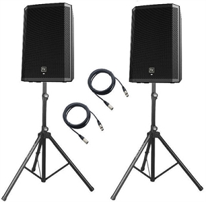 EV ZLX12P Powered Speaker Package w/stand & cable - 2