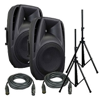 Gemini ES-15BLU Active Speaker System with Bluetooth Package
